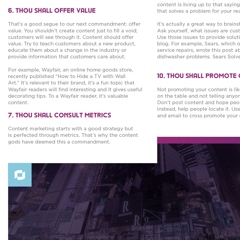 The 10 Commandments of Content Marketing Preview #2