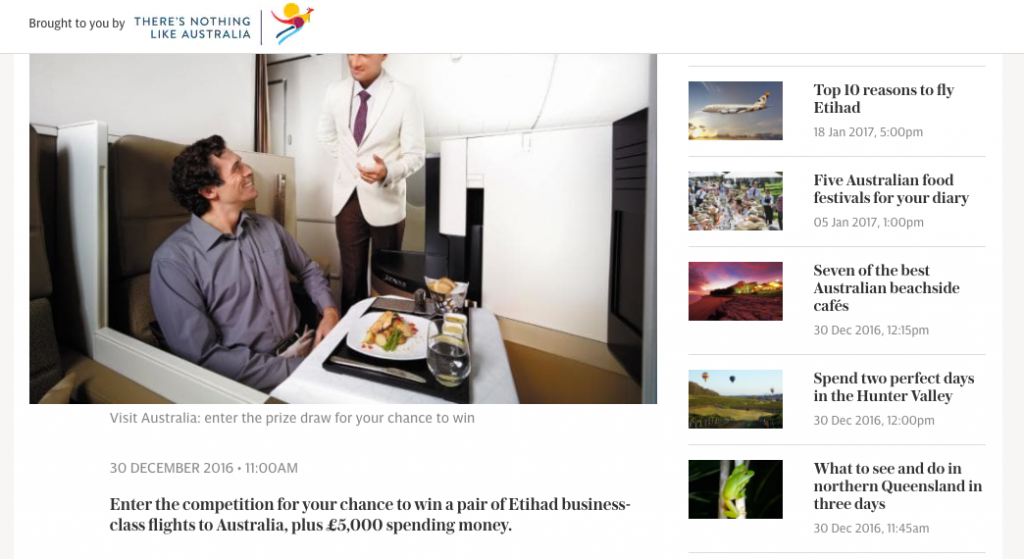 Example of Sponsored Content