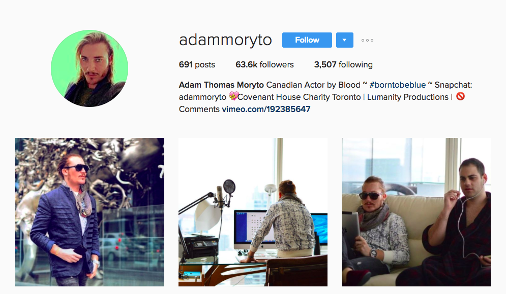 Adam Moryto Canadian Social Media Influencer