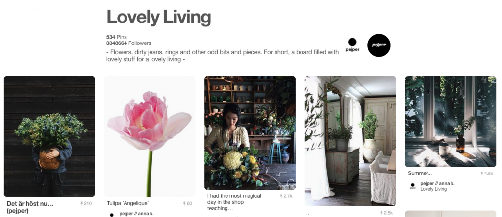 Lovely Living Top Pinterest Boards