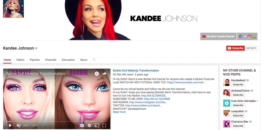 Kandee Johnson Beauty Influencer