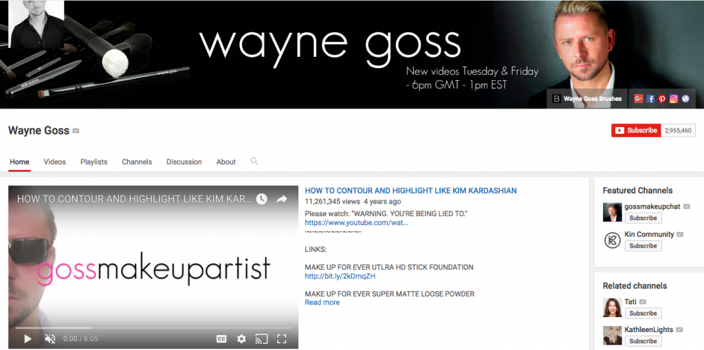 Wayne Goss Beauty Influencer