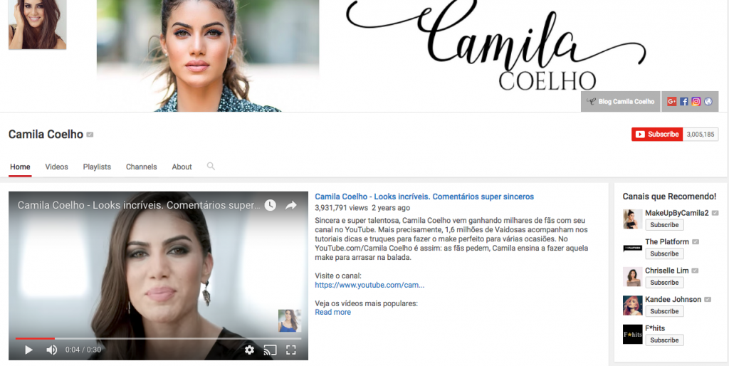 Camila Coelho Top Hispanic Social Media Influencer