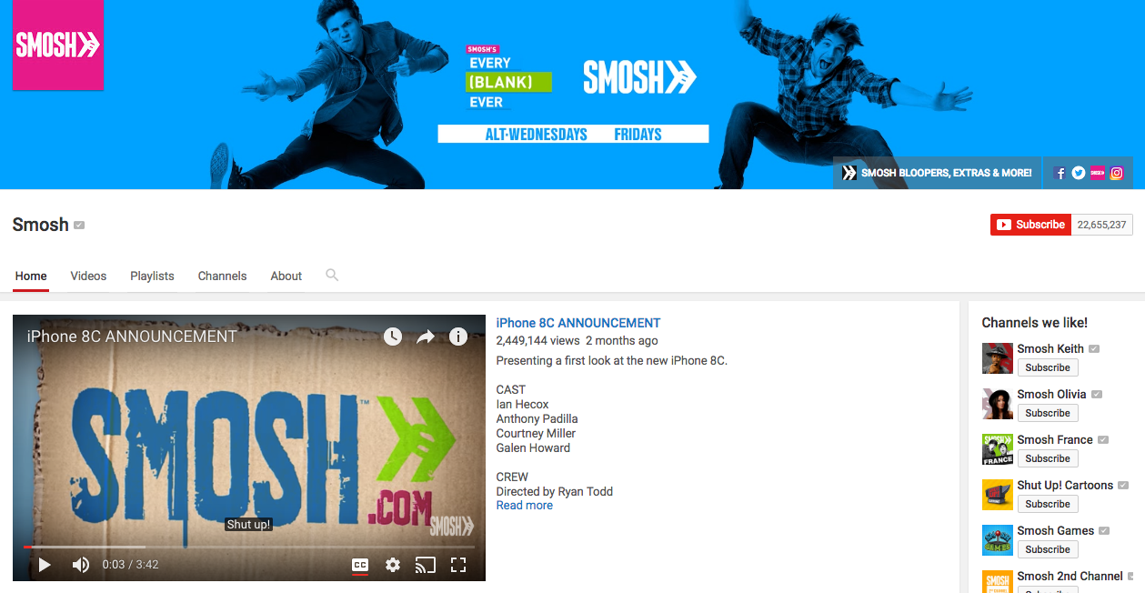 Smosh Top YouTube Influencers
