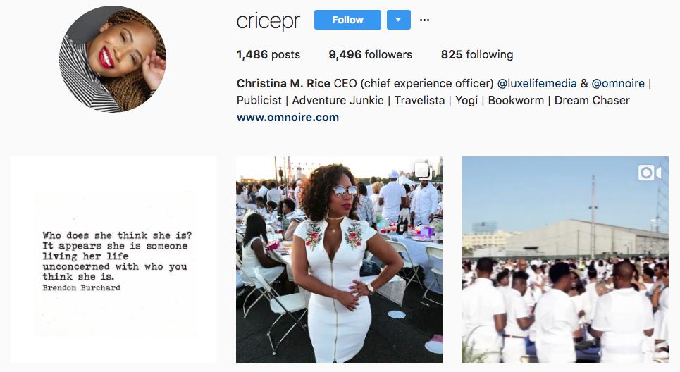 Christina M. Rice Top Micro-Influencer