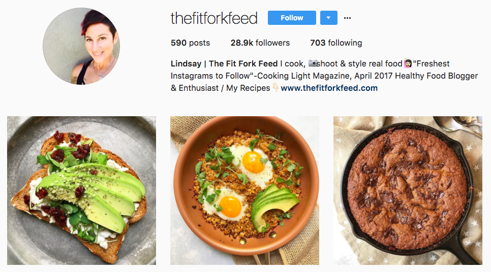 Top Micro-Influencer The Fit Fork Feed