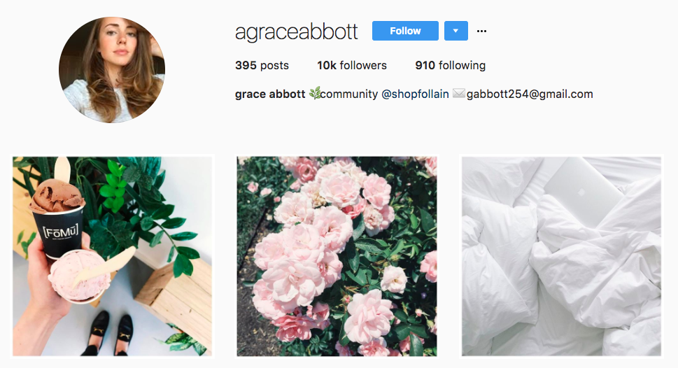 Top Micro-Influencer Grace Abbot