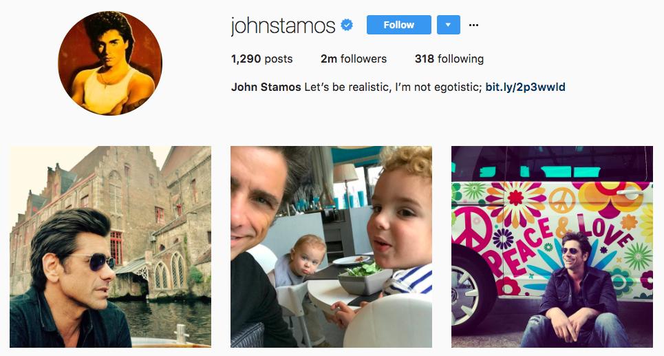 John Stamos Top Snapchat Influencer