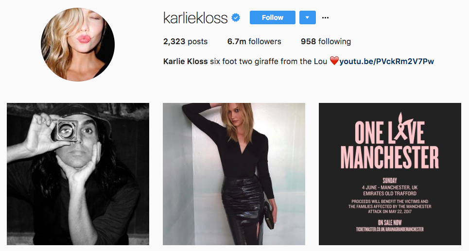 Karlie Kloss Top Snapchat Influencer