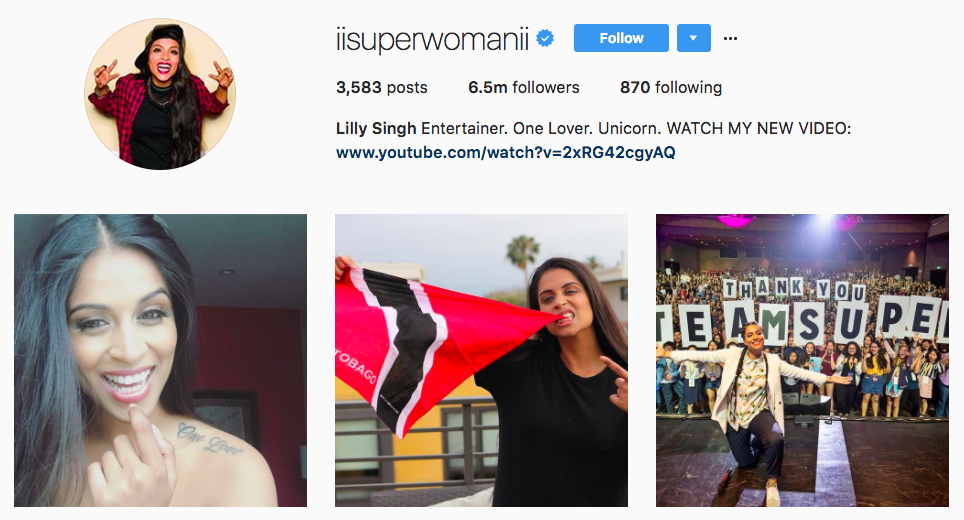Lilly Singh Top Snapchat Influencer