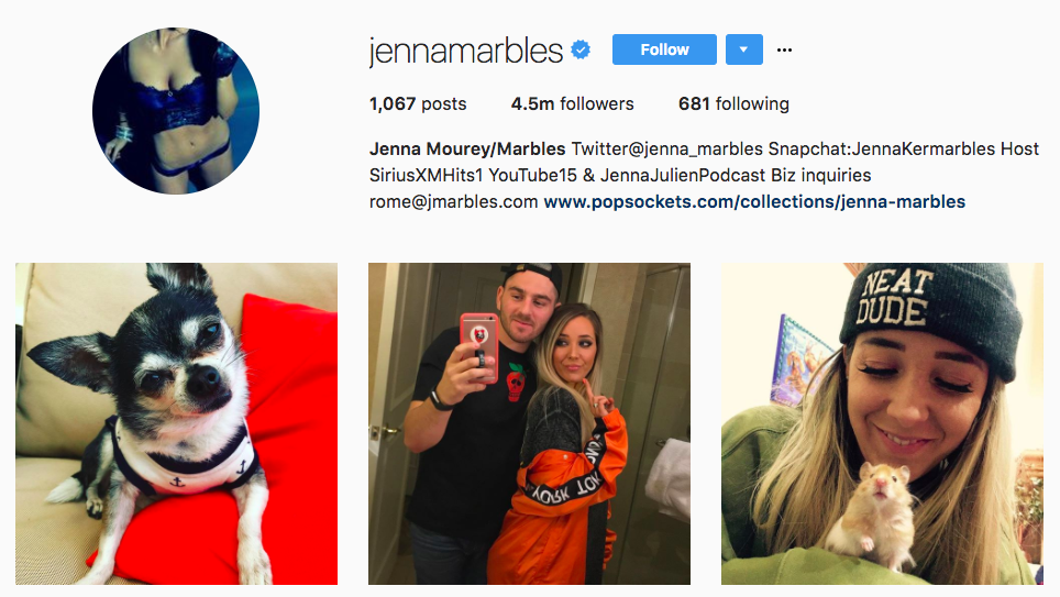 Jenna Marbles Top Snapchat Influencer