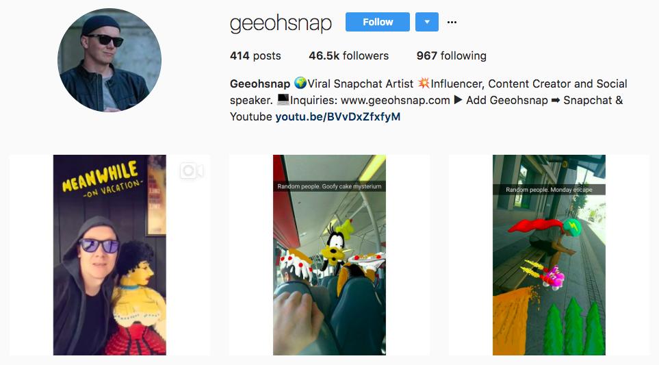 Geeohsnap Top Snapchat Influencer