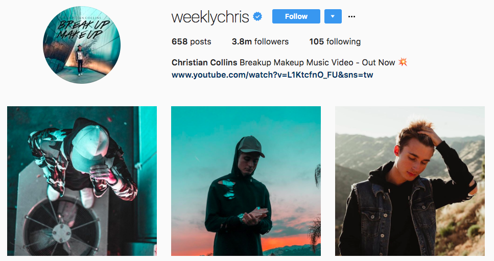 Christian Collins Top Snapchat Influencer