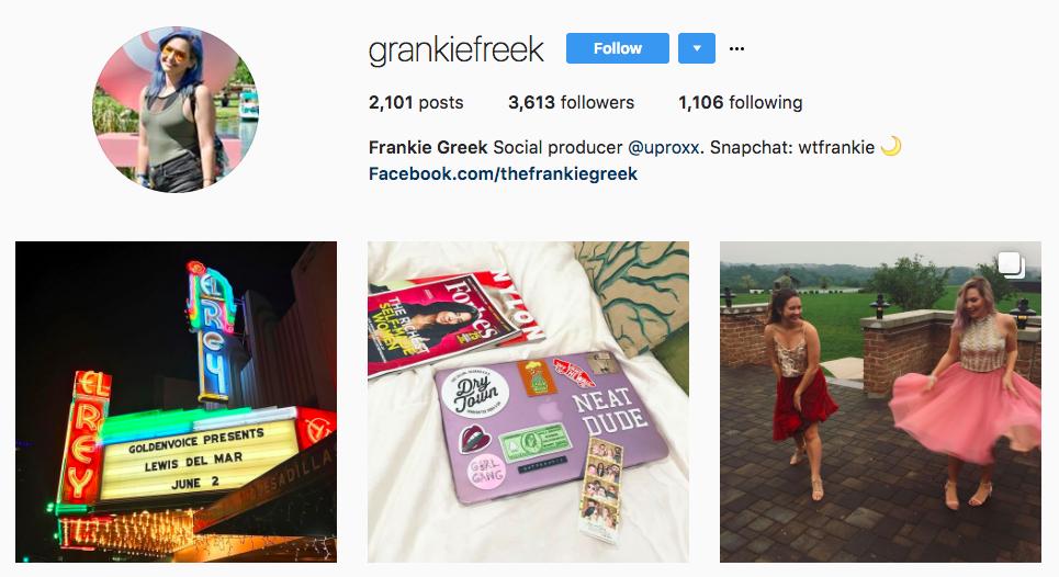 Frankie Greek Top Snapchat Influencer