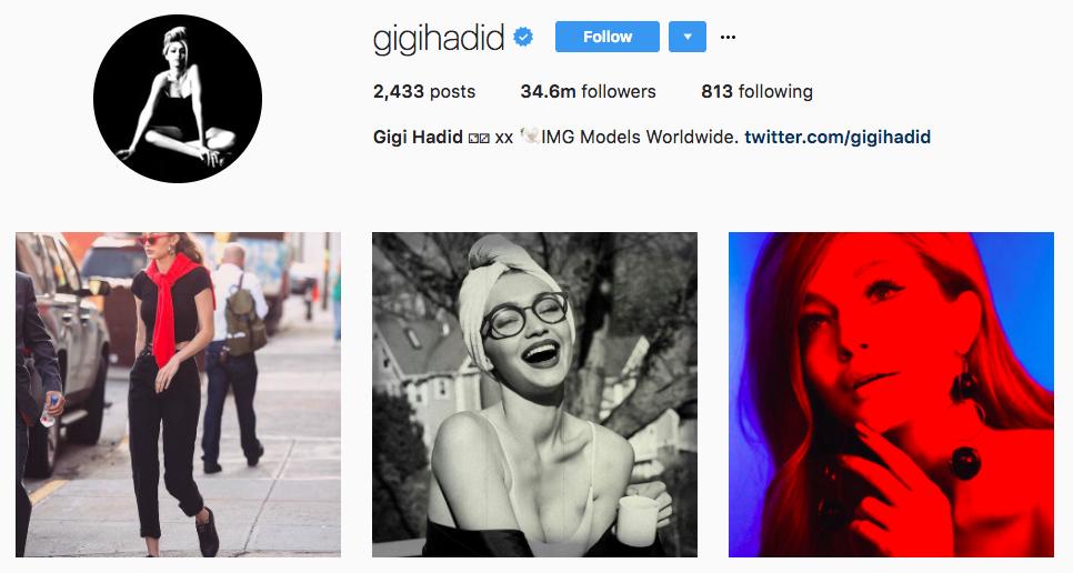 Gigi Hadid Top Snapchat Influencer