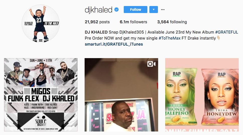 DJ Khaled Top Snapchat Influencer