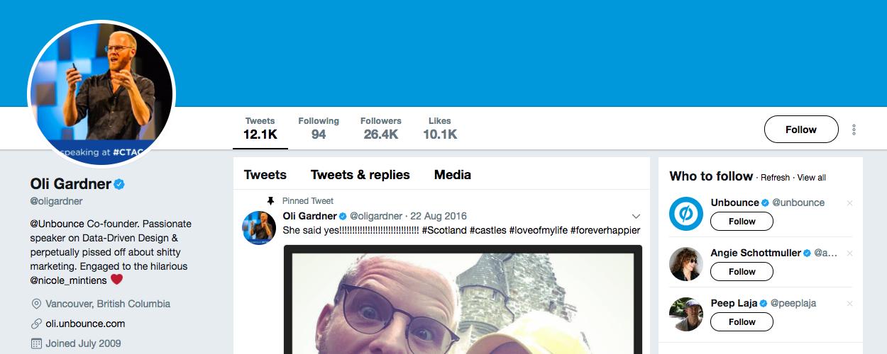 B2B Influencer Oli Gardner