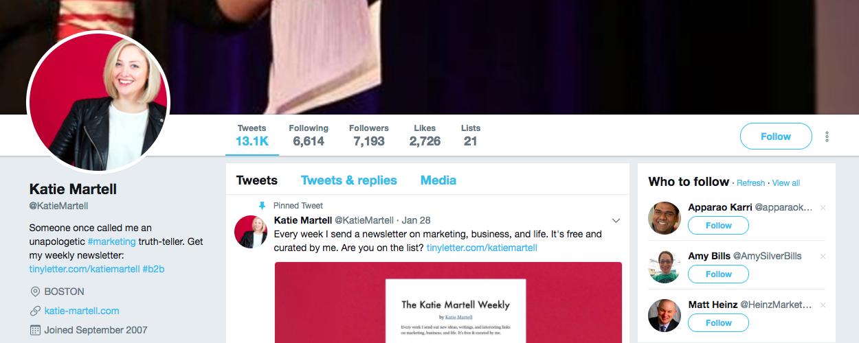 B2B Influencer Katie Martell