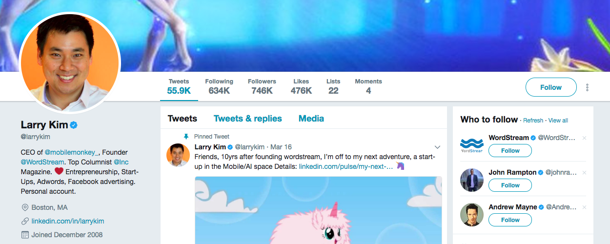 B2B Influencer Larry Kim
