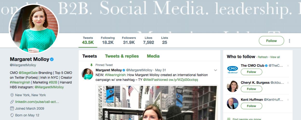 Margaret Molloy B2B Influencer