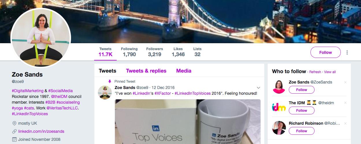 Zoe Sands B2B influencer