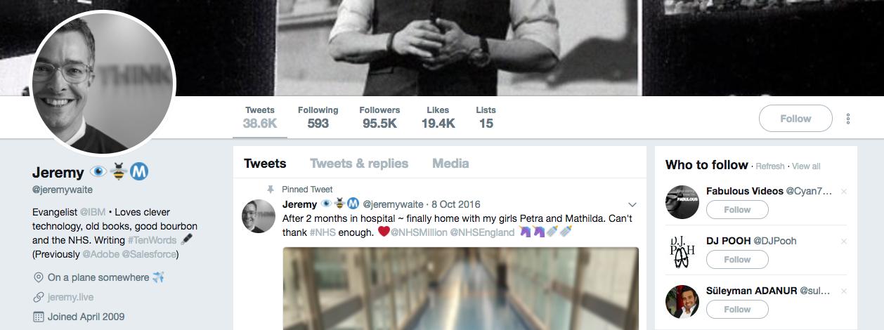 Top B2B Influencer Jeremy Waite