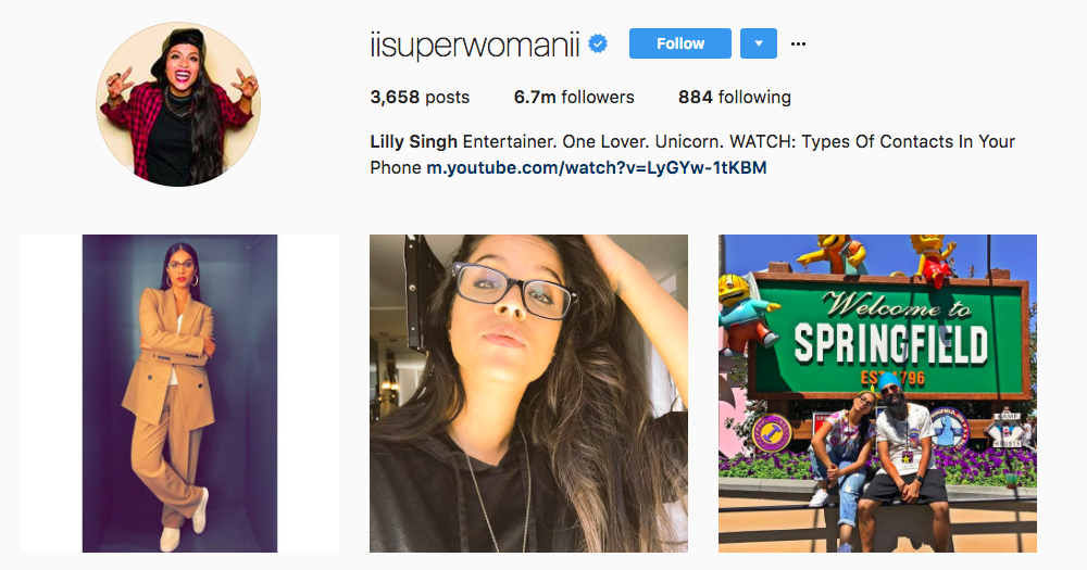 Lilly Singh Top Influencer Entertainment