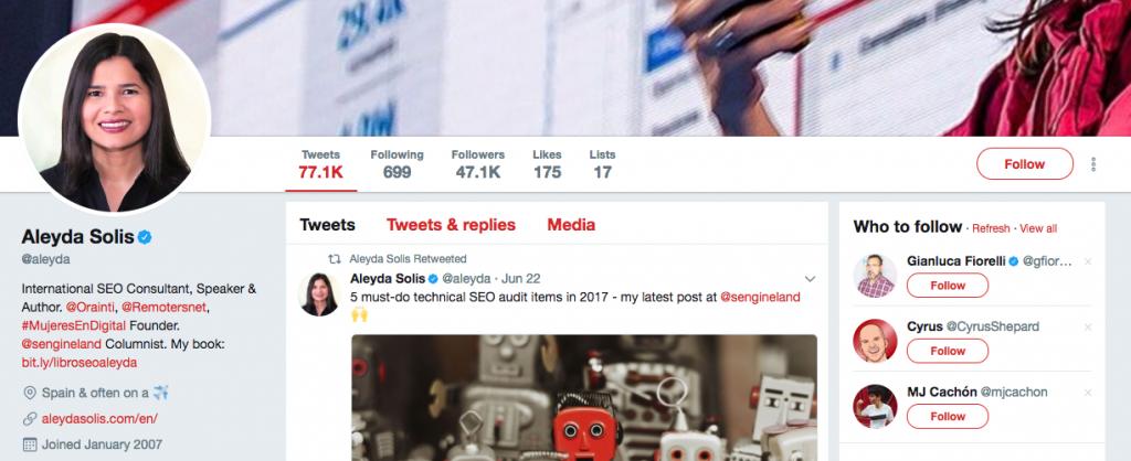 Aleyda Solis Top SEO Influencer