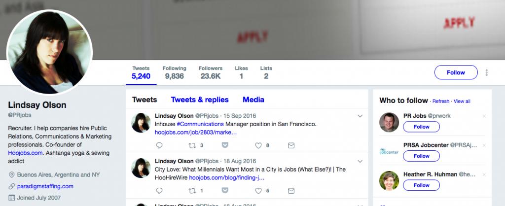 Lindsay Olson Top PR Influencer