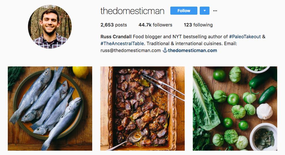 Russ Crandall Top Foodie Influencer
