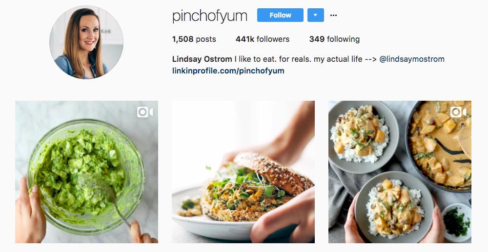 Lindsay Ostrom Top Foodie Influencer