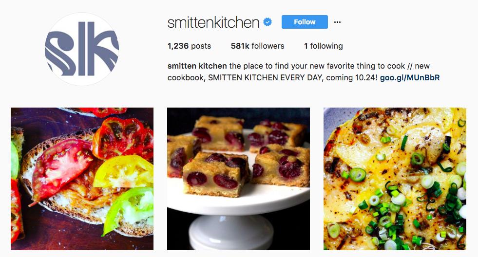 smitten kitchen top foodie influencer