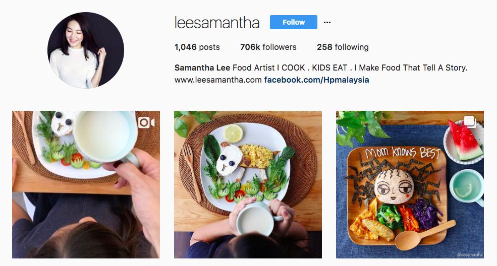 Samantha Lee Top foodie Influencer