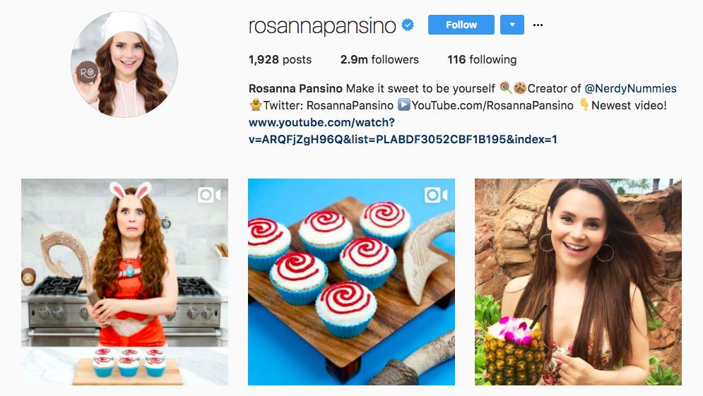 Rosanna Pansino Top Foodie Influencer