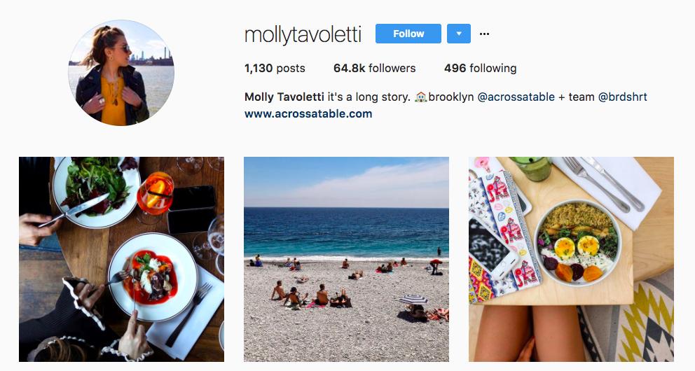 Molly Tavoletti Top Foodie Influencer