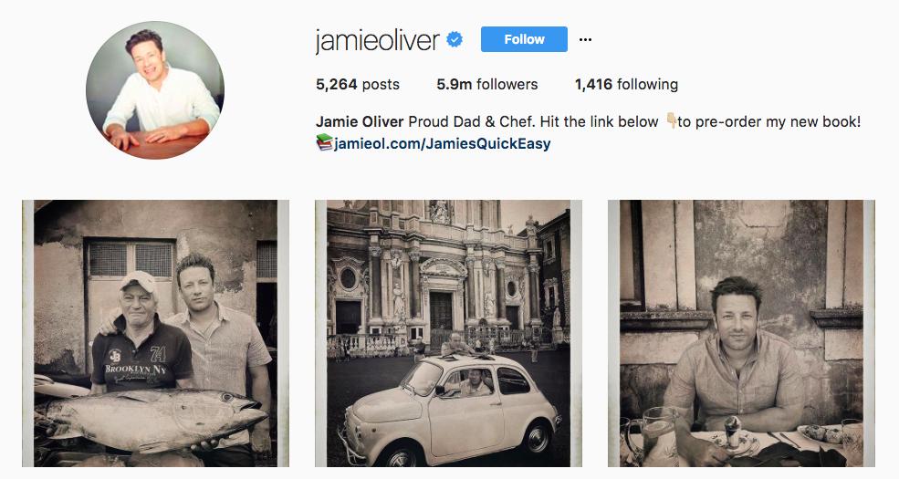 Jamie Oliver Top Foodie Influencers
