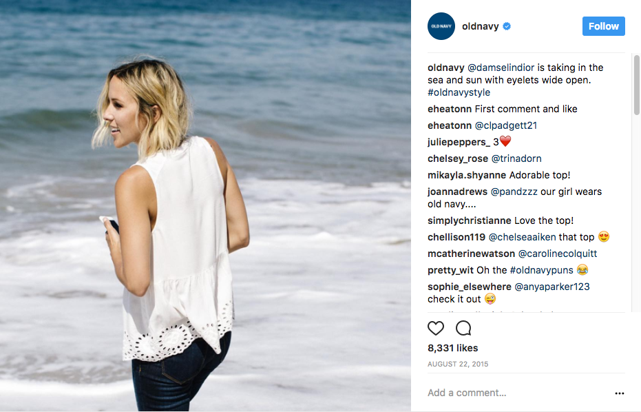 Old Navy Repurpose Influencer Content
