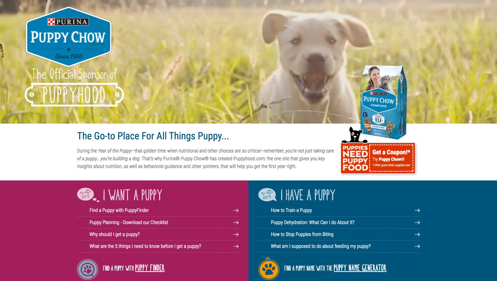 Purina B2C Content Marketing Examples