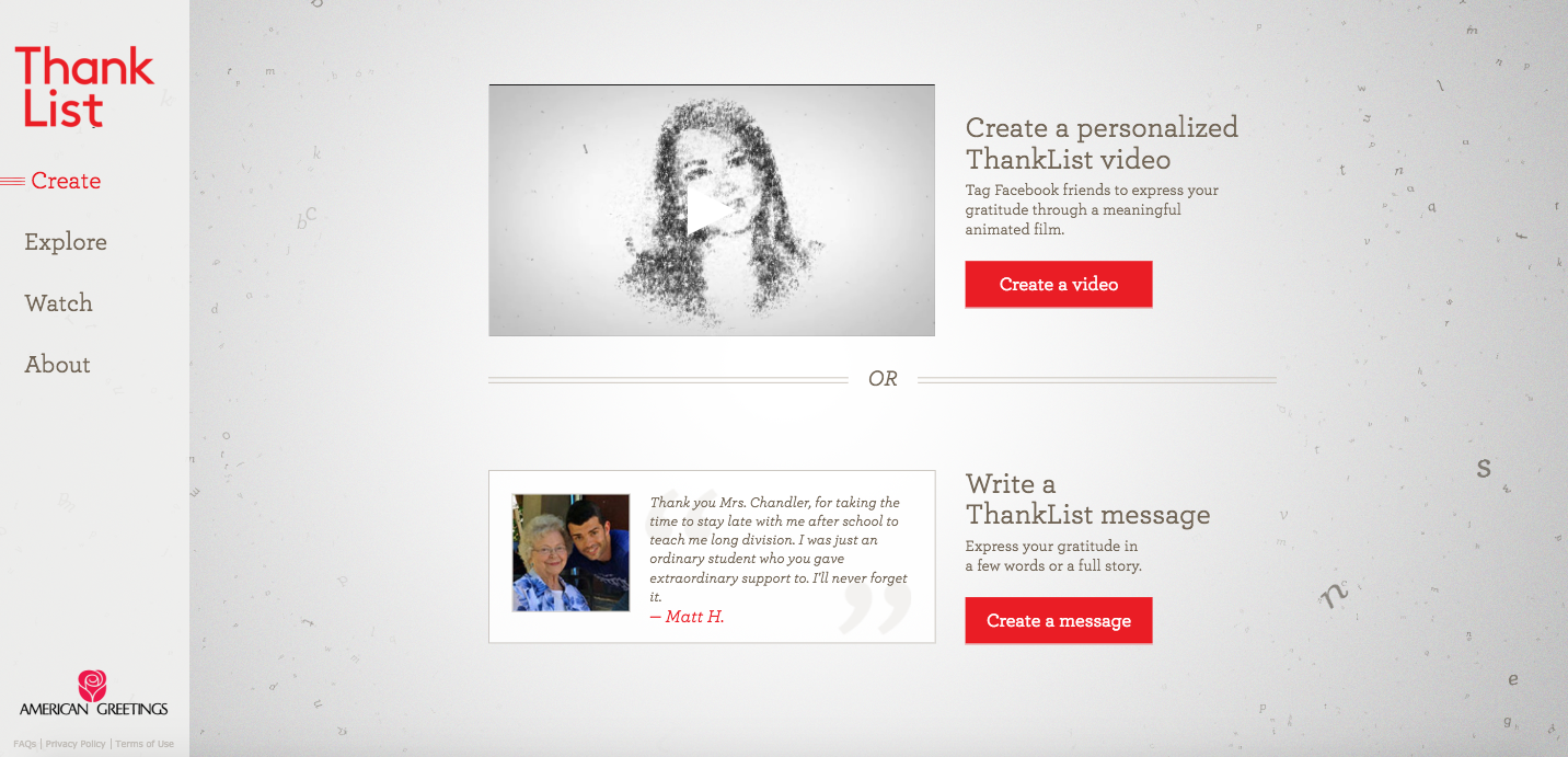 American Greetings B2C Content Marketing Examples