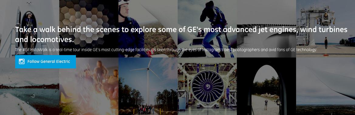 GE InstaWalk B2b Content Marketing Examples