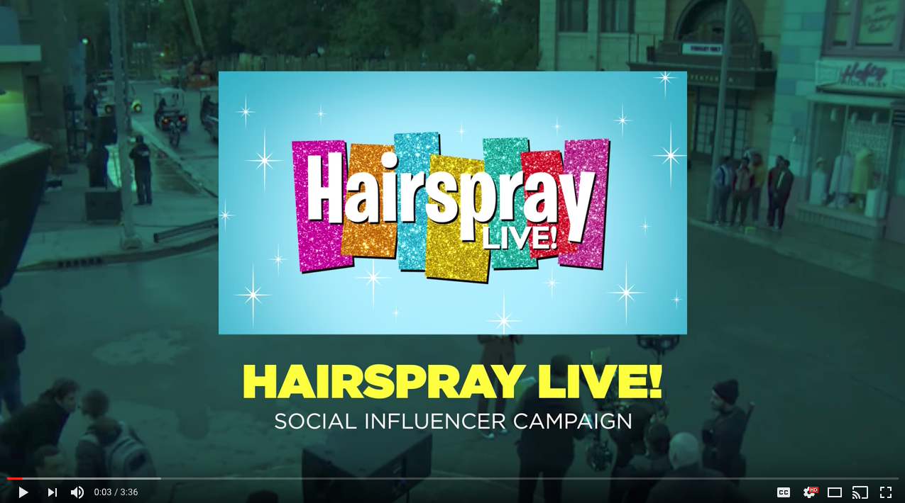 Hairspray Live Influencer Marketing Campaign Example