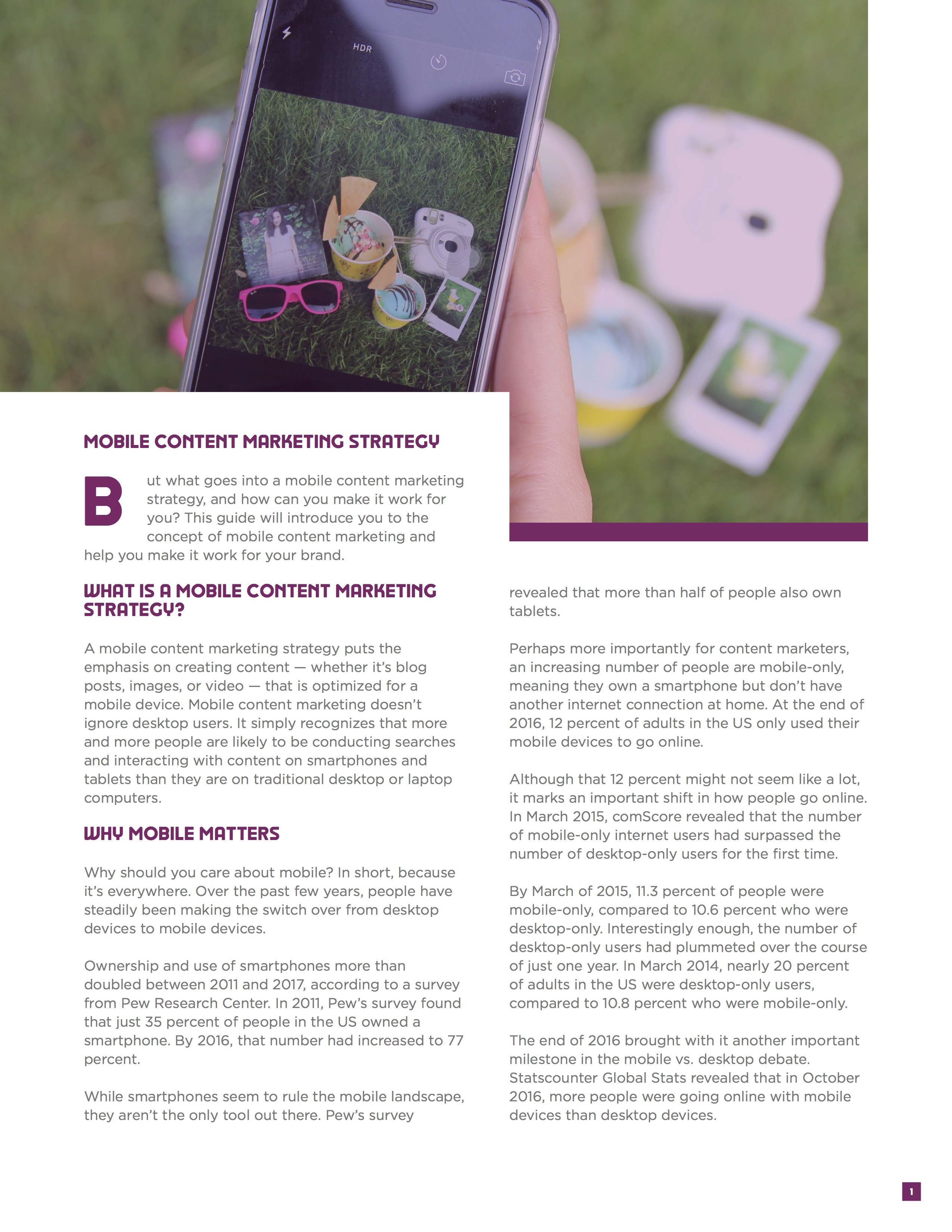 Mobile Content Marketing Ebook Image3