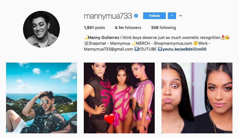 Manny Gutierrez Instagram Influencer