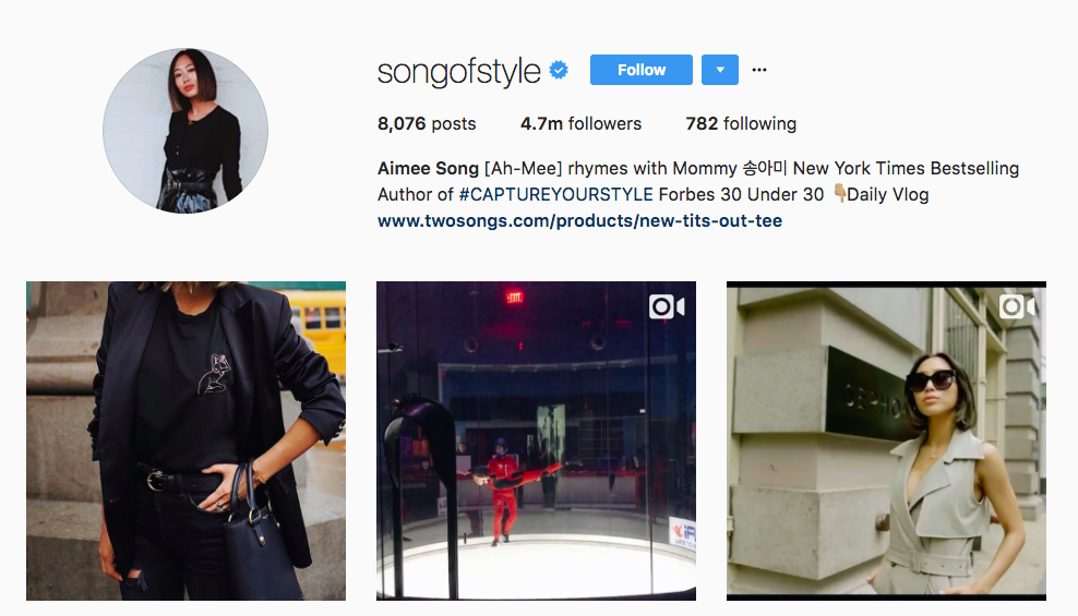 Aimee Song Instagram Influencer