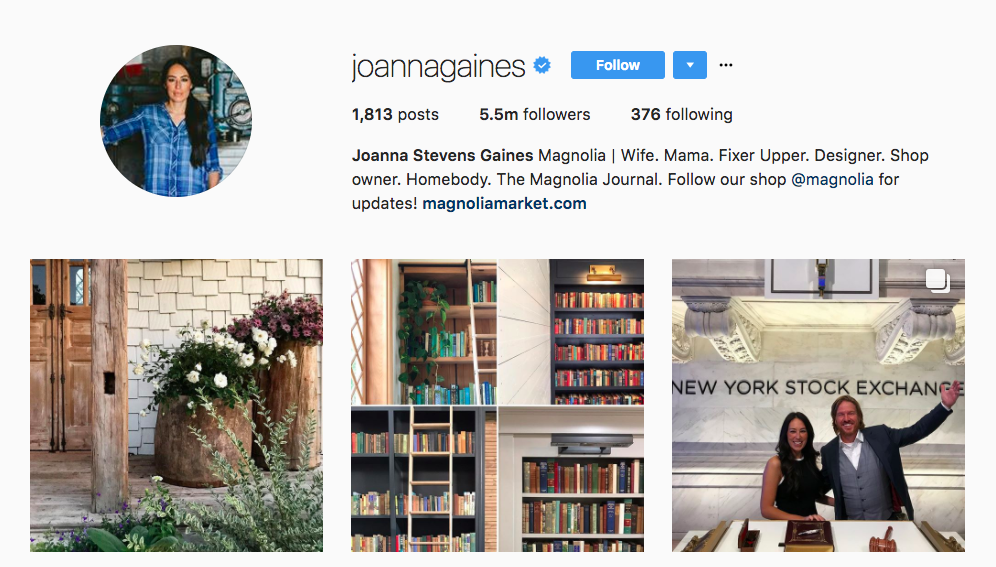 Joanna Gaines Instagram Influencer