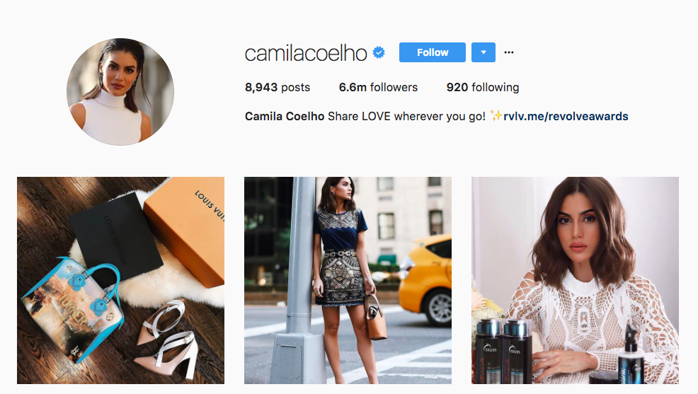 Camila Coelho Top Instagram Influencers 2017