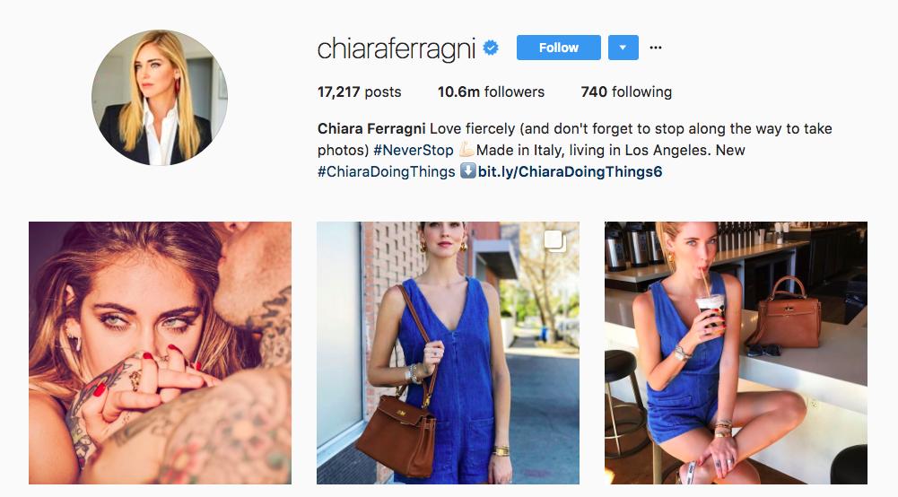 Chiara Ferragni Instagram Influencer