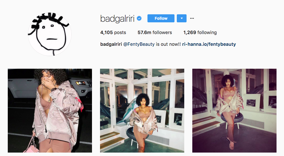 Rihanna Top Instagram Influencers