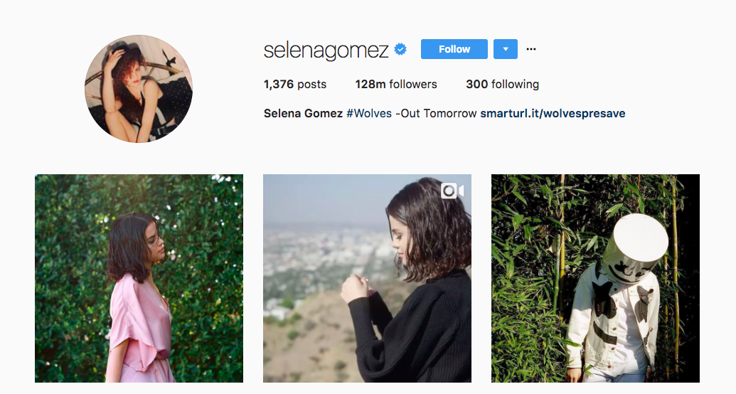 Selena Gomez Top Instagram Influencer