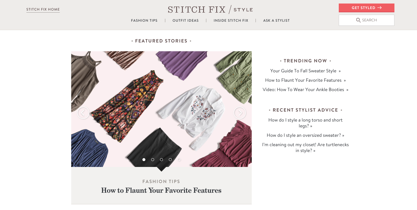 Stitch Fix Fashion Content Marketing